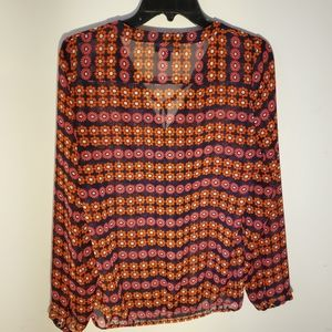Womens Black and Red Blouse by Gap